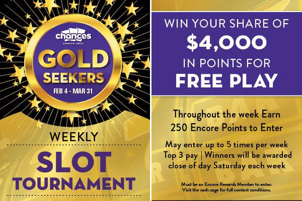 gold seekers slot tournament